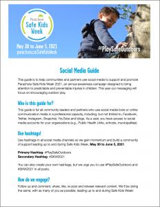 Image of Safe Kids Week 2021 Social Media Guide